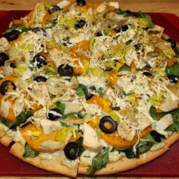 Ron's Dill Chicken Pizza