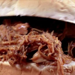 Root Beer Pulled Pork Sandwich