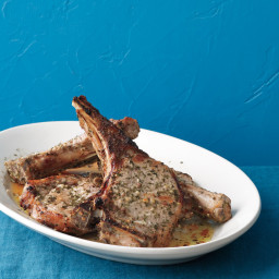 Rosemary-Anchovy Pork Chops