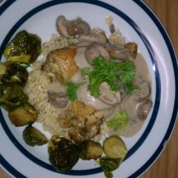 rosemary and garlic roasted chicken