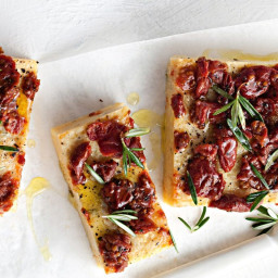 Rosemary and semi-dried tomato polenta