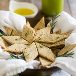 Rosemary and Sesame Paleo Crackers