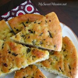 Rosemary and Thyme Focaccia Bread Recipe