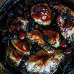 Rosemary Cherry Balsamic Roasted Chicken