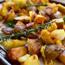 Rosemary Garlic Fried Potatoes