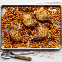 Rosemary-Garlic Pork Chops with Chickpeas