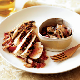 Rosemary-Grilled Chicken with Mushroom Sauce