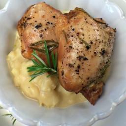 Rosemary-Honey Chicken with Smashed Cauliflower