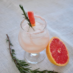 Rosemary Infused Salty Dog Cocktail