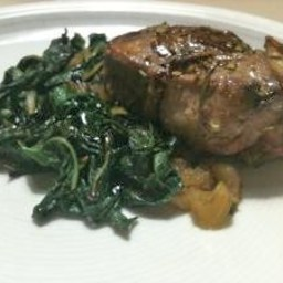 Rosemary Lamb Chops with Swiss Chard