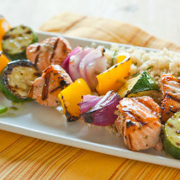 Rosemary-Lime Wild Salmon Kabobs