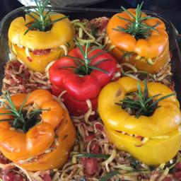 Rosemary Zucchini Stuffed Peppers