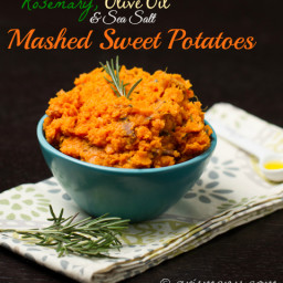 Rosemary, Olive Oil & Sea Salt Mashed Sweet Potatoes
