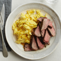 Rosemary Steaks with Cheesy Eggs