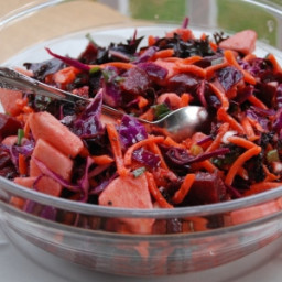 Ruby Red Beet and Apple Salad~