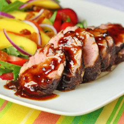 Rum Spice Glazed Pork Tenderloin