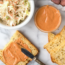 Russian Dressing is a classic spicy spread for sandwiches or salads.
