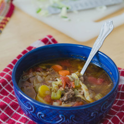 Rustic Beef, Tomato & Cabbage Stew