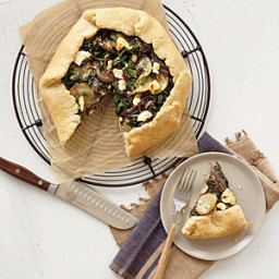 Rustic Chard, Potato, and Goat Cheese Tart