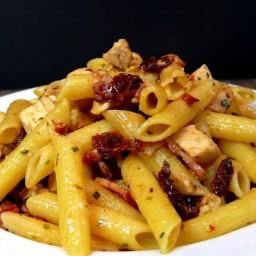 Rustic Chicken-Bacon-Sun-Dried Tomato Penne Pasta