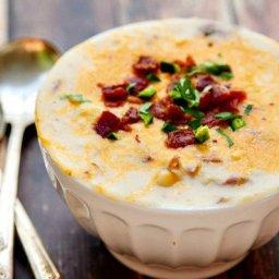 rustic loaded potato soup