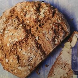 Rustic oat and treacle soda bread