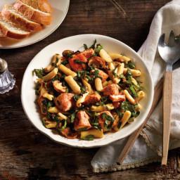 Rustic Pasta and Salmon Sauté