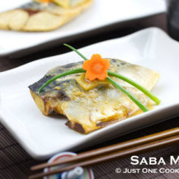 Saba Misoni (Simmered Mackerel in Miso Sauce)