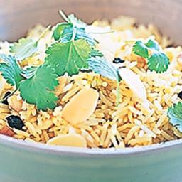 Saffron steamed rice