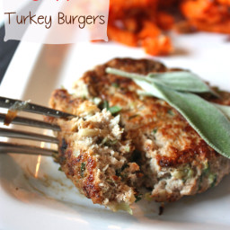 Sage and Apple Turkey Burgers
