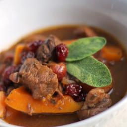 Sage Stew with Pumpkin and Cherries