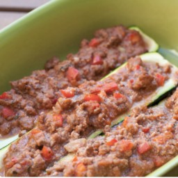 Sail Away Zucchini Boats