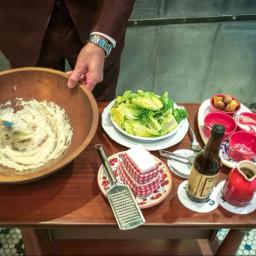 Salad - Mom's Classic Caesar prepared tableside!
