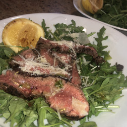 Salad - Grilled Steak with Baby Arugula and Parmesan
