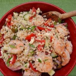 Salad - Shrimp Couscous with Mint and Feta