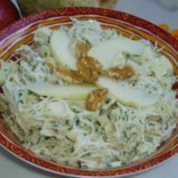 Salade de celeri rave aux pommes