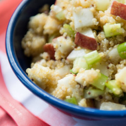 Salade de quinoa, pomme, gouda