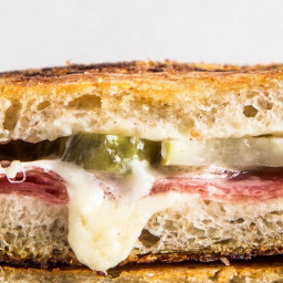 Salami and Pickle Grilled Cheese