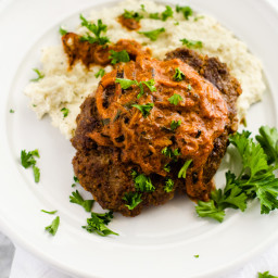 Salisbury Steak with Paprika Onion Sauce