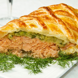Salmon and Asparagus en Croute