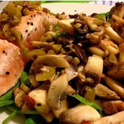 Salmon and Mushroom Salad
