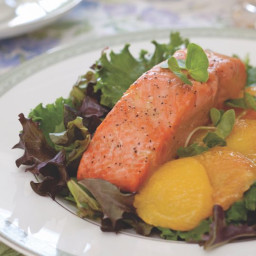 Salmon and Roast-Peach Salad