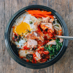 Salmon Bibimbap Korean Rice Bowl