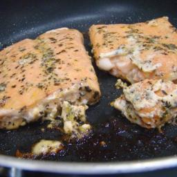 Salmon Fillets With Basil and Orange