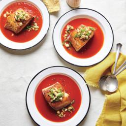 Salmon in Smoky Tomato Broth