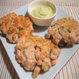 Salmon: lime and lemongrass fishcakes