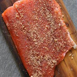 Salmon (Mustard-Brown Sugar) Rub