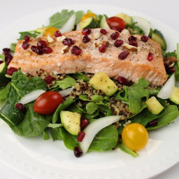 Salmon over Quinoa Kale Salad