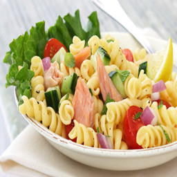 Salmon Pasta Salad with Mint and Lemon