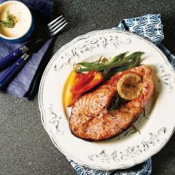 Salmon Steak with Herbs
